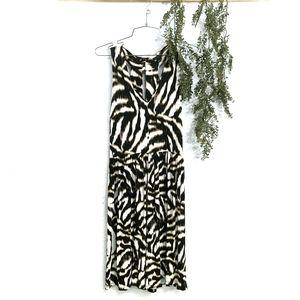 Ann Taylor Animal Print Tiger Abstract Dress  6